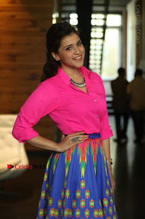 Actress Mannar Chopra in Pink Top and Blue Skirt at Rogue movie Interview  0053.JPG