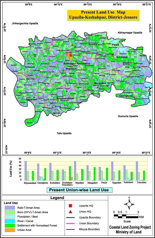 Keshabpur Upazila Mouza Map Jessore District Bangladesh