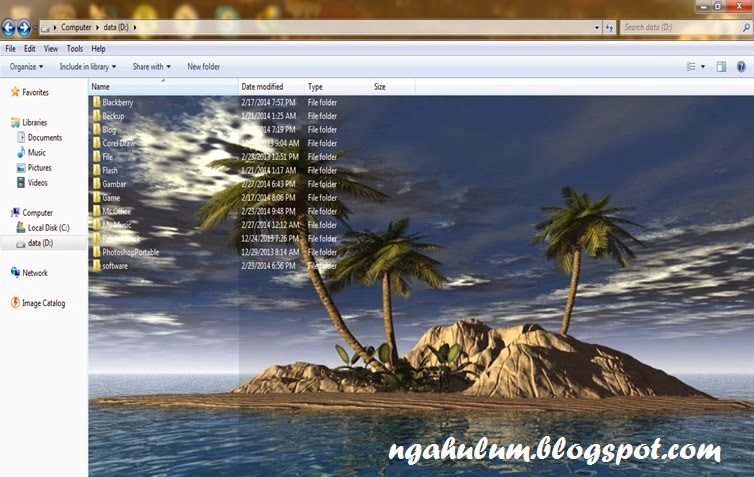 cara mengubah background windows 7