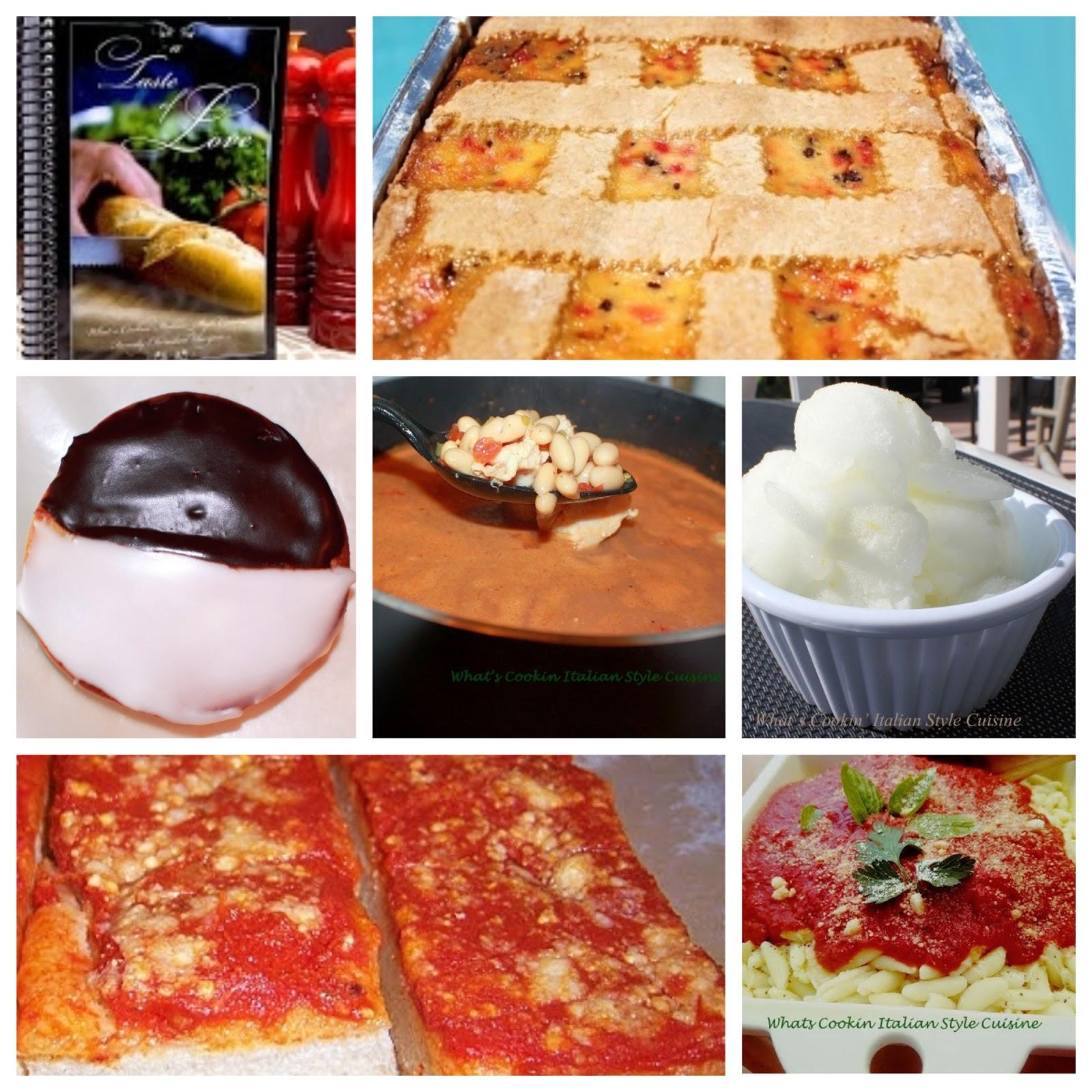 collage of cookbook recipes