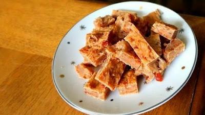 Homemade salmon brittles