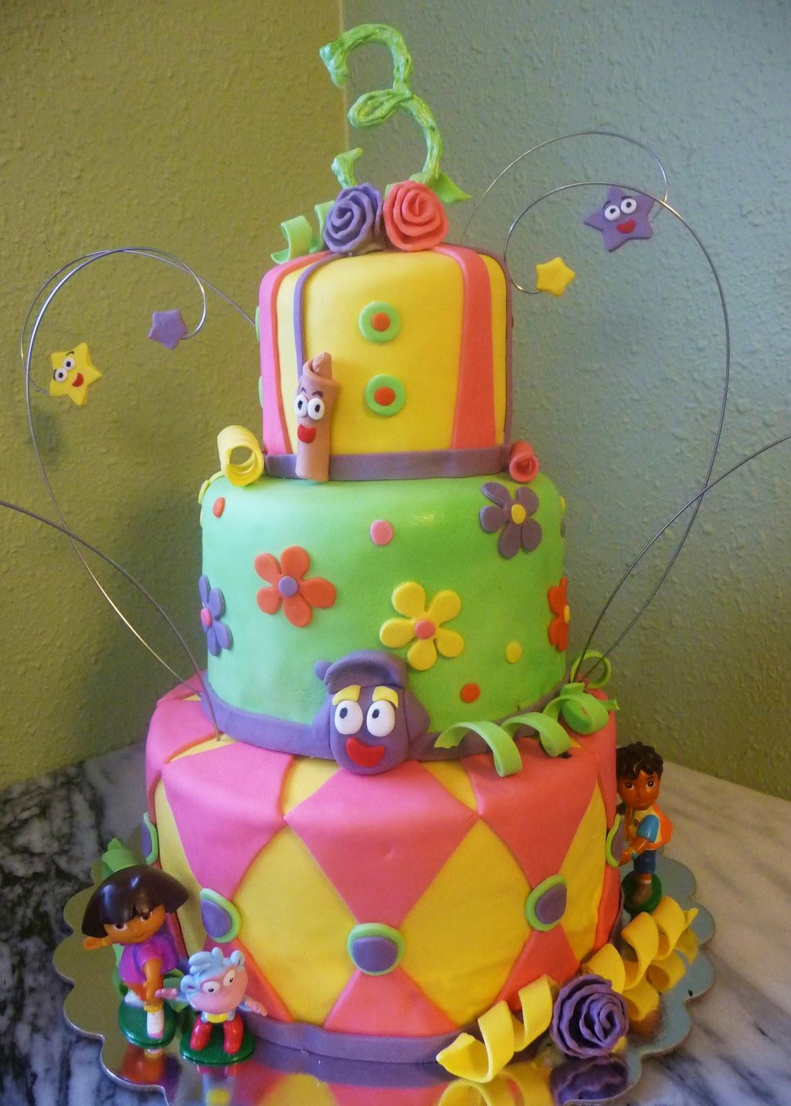 Pure Delights Baking Co.: Dora the Explorer Cake