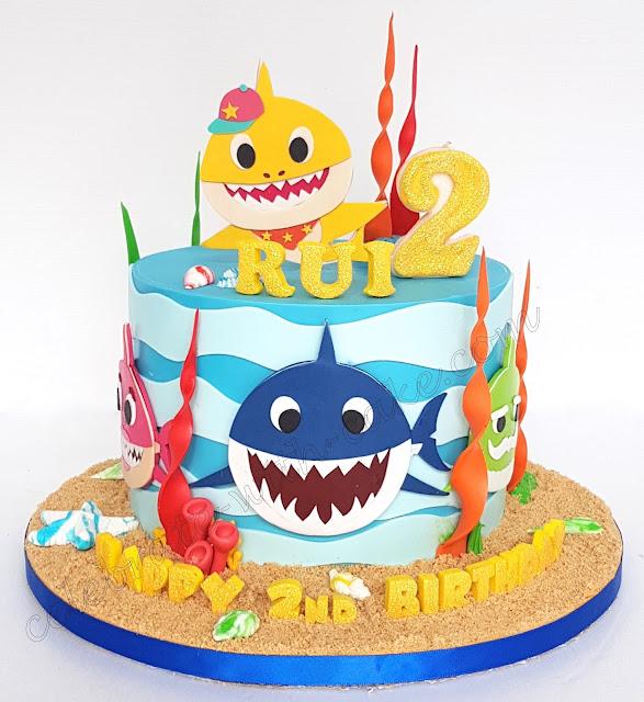 Celebrate With Cake Baby Shark Single Tier