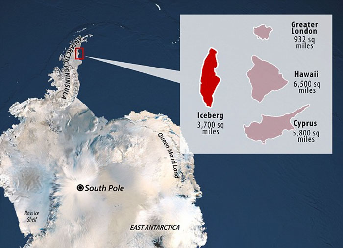 A giant, trillion-tonne iceberg has just broken away from Antarctica