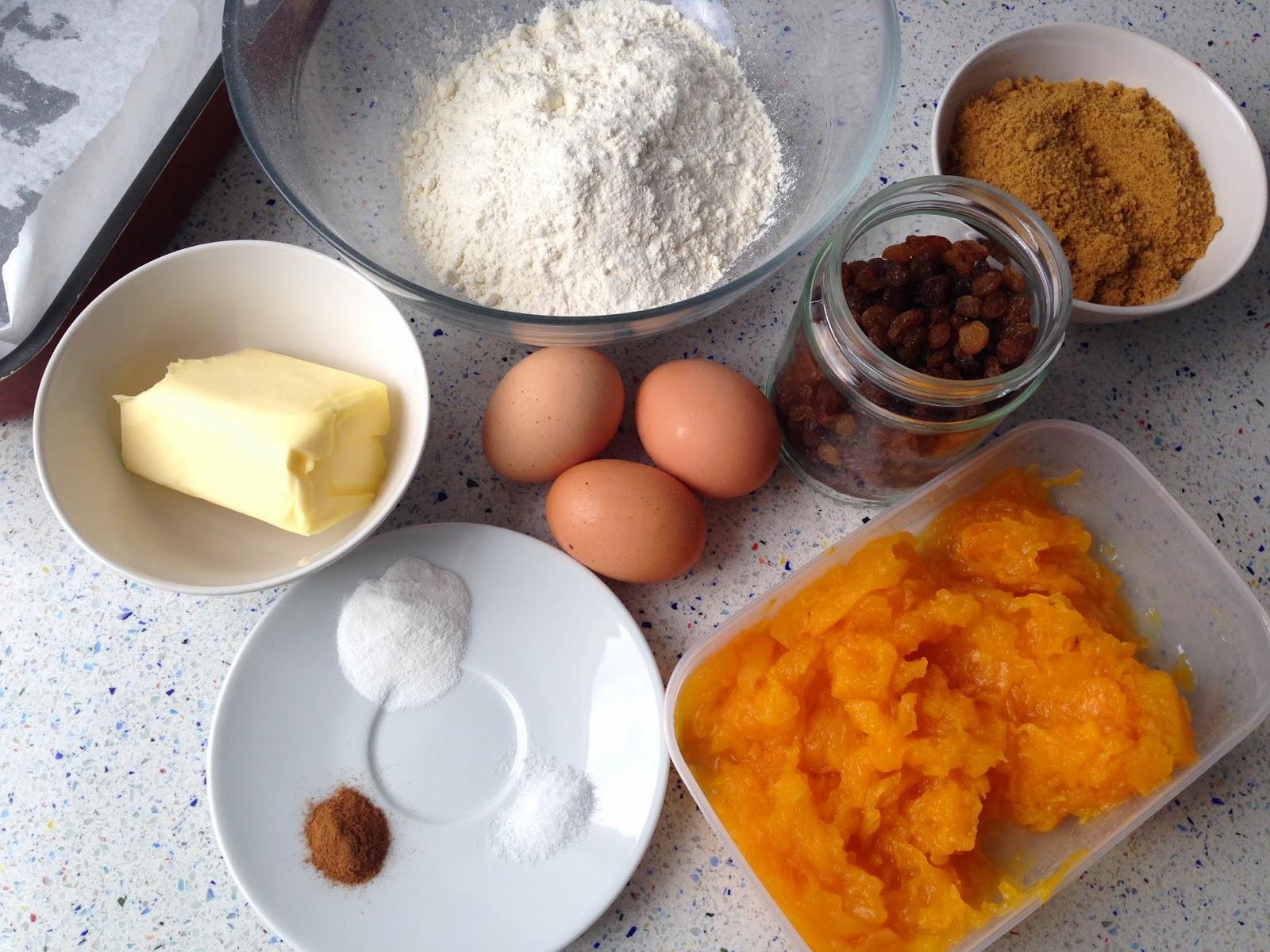 Ingredientes pan de calabaza