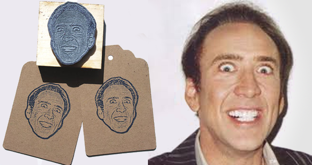 Nicolas Cage Face Stamp