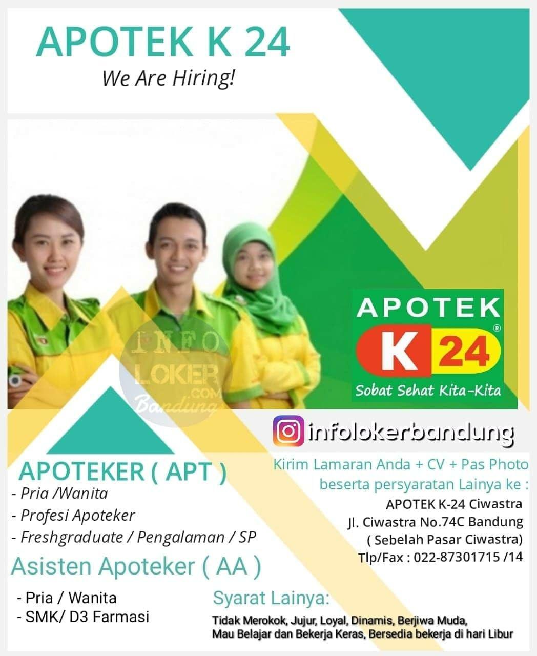 Lowongan Kerja Apotek K24 Bandung Februari 2019