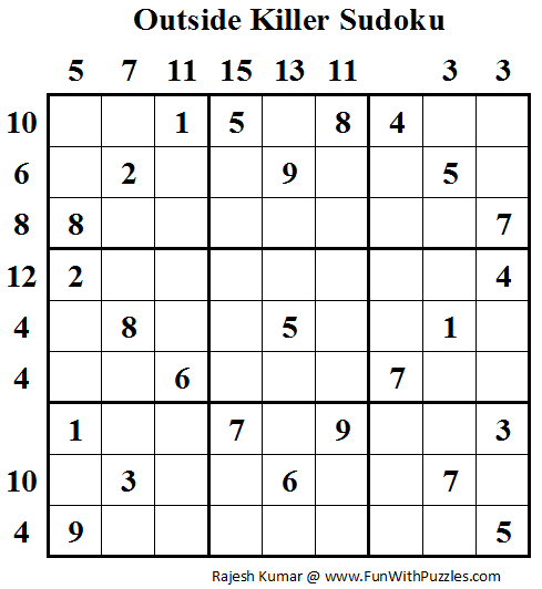 Outside Killer Sudoku (Fun With Sudoku #46)