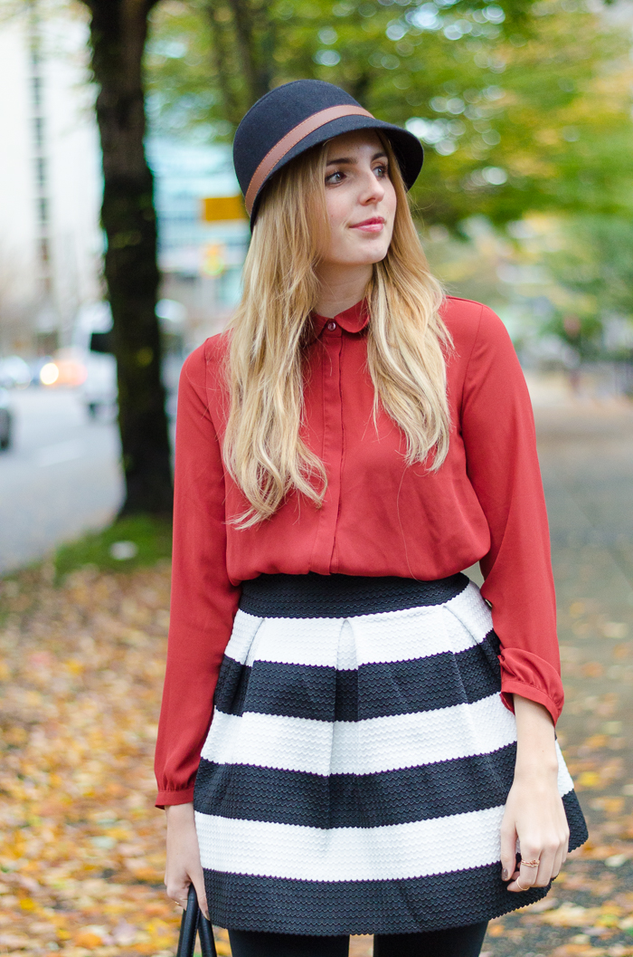 Winter outfit, How to Style a Skater Skirt