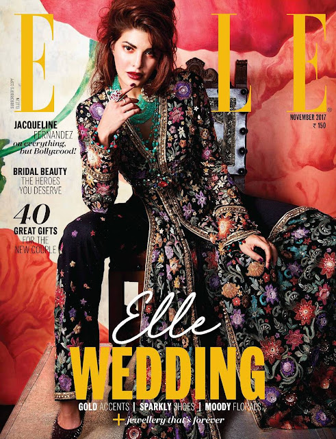 Jacqueline Fernandez Covers Elle India November 2017 Issue