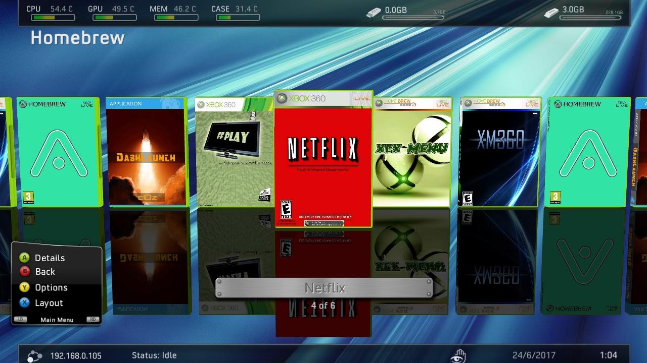 HD PARA XBOX 360 RGH JTAG Rodando NETFLIX No RGH JTAG