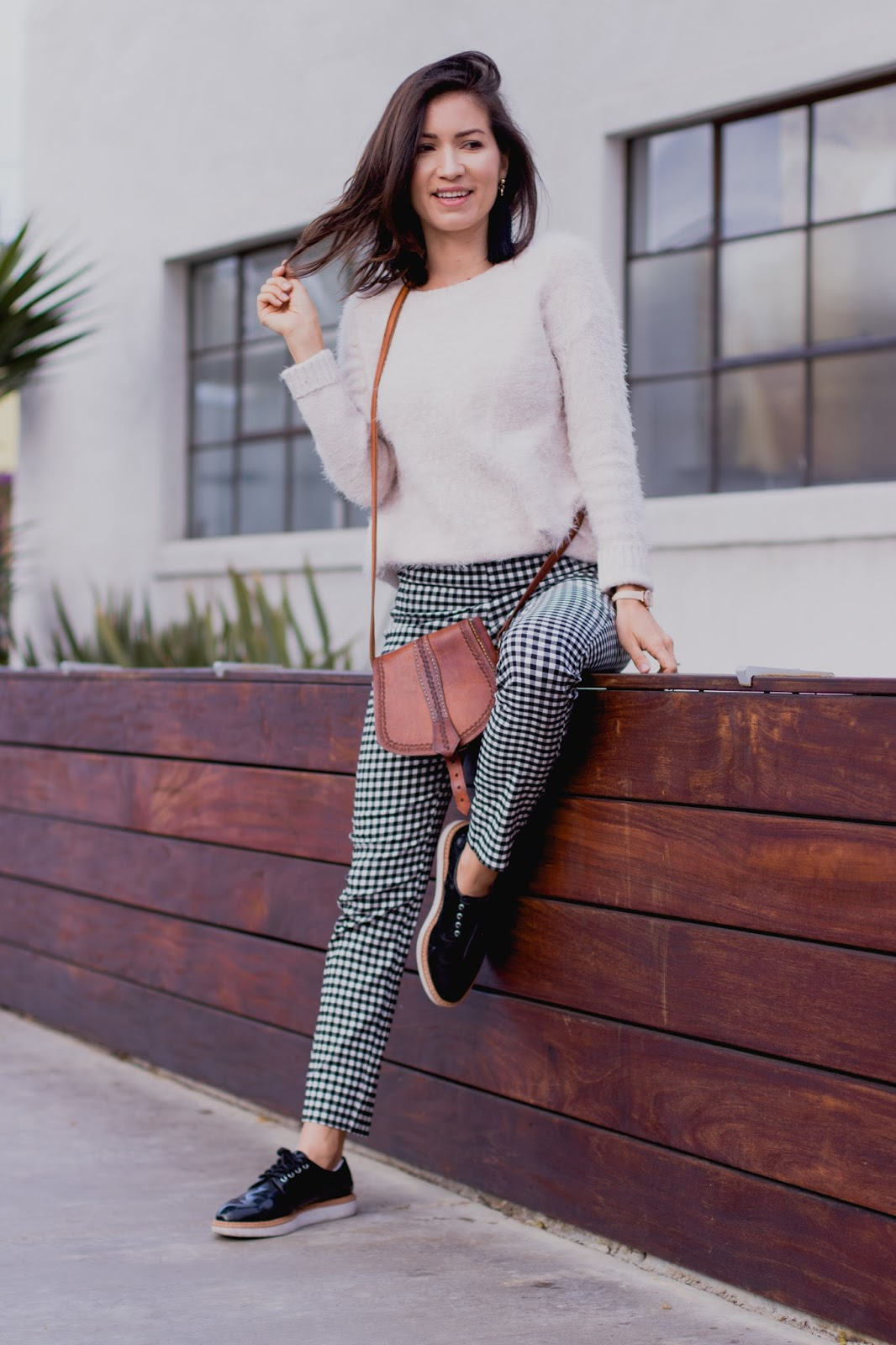 3 Ideas for Styling Gingham Cropped Pants