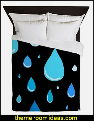 Falling Raindrops duvet covers rain theme bedding raindrops theme bedding