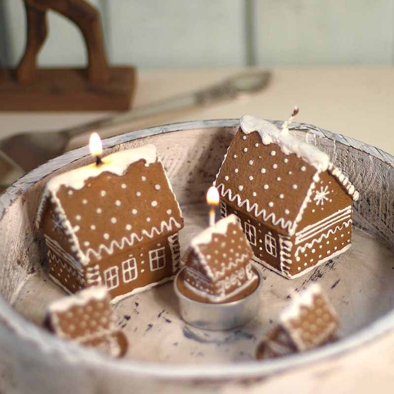 iced decorated Christmas gingerbread house sweets