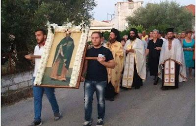 Στο χωριό του, τον Άγιο Βλάσιο Ηγουμενίτσας, εορτάστηκε η μνήμη του ιερομάρτυρα Αναστασίου του Γουναρά