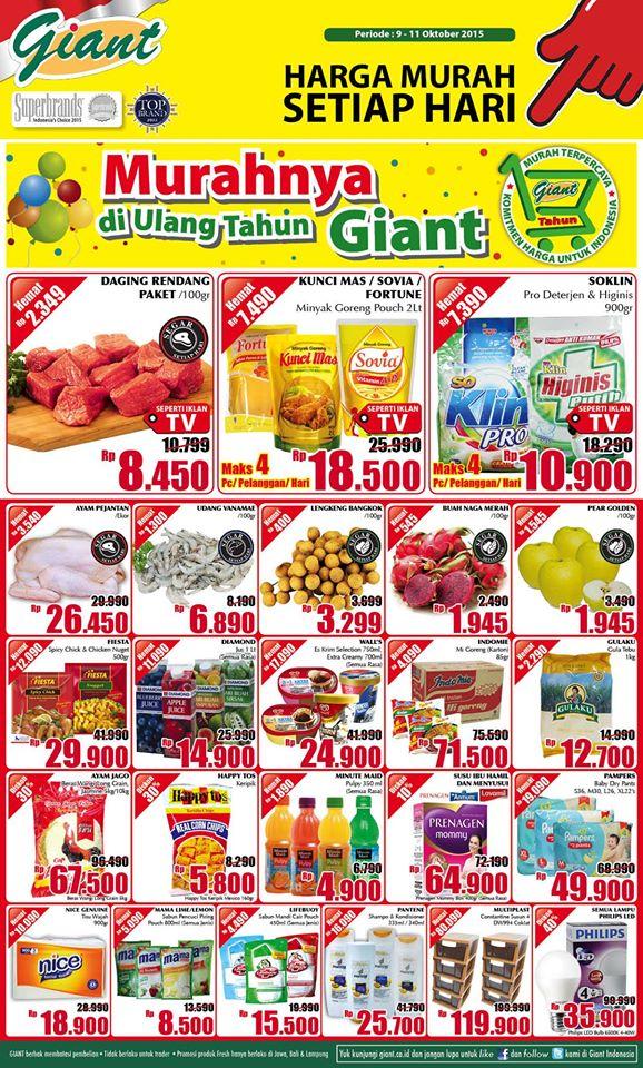 Katalog Harga Promo Giant Akhir Pekan Periode 9 11 Oktober 2015 Kumpulan Harga Promo Terbaru