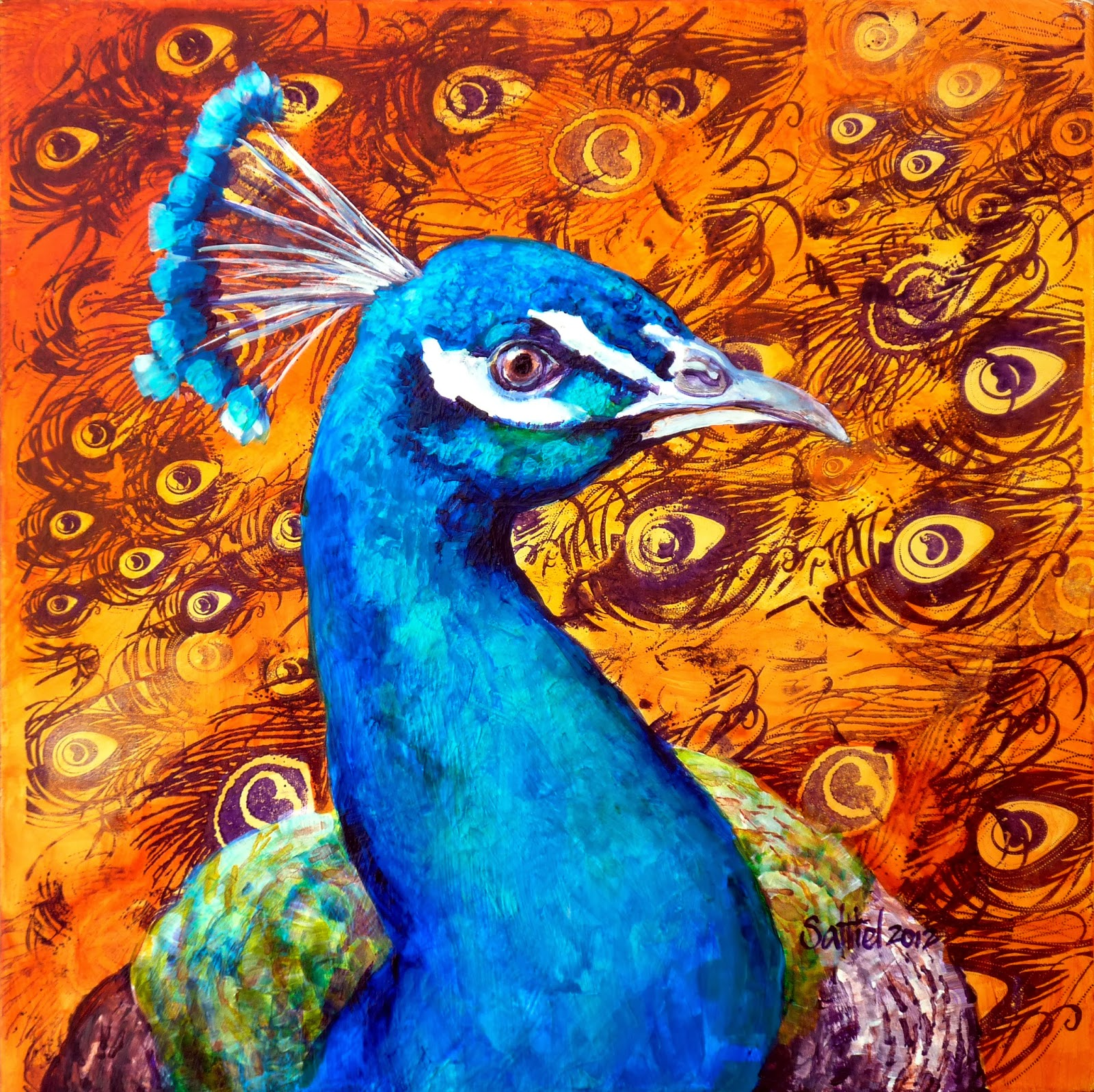 Prints Of Paintings On Canvas Art By Saltiel: Animals And Birds