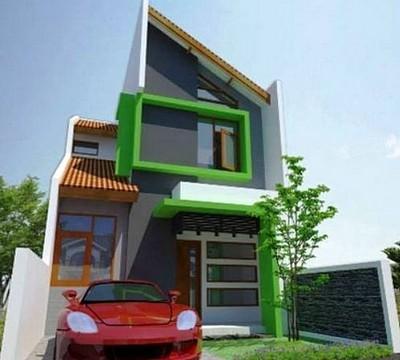 gambar rumah minimalis sederhana 2 lantai type 21