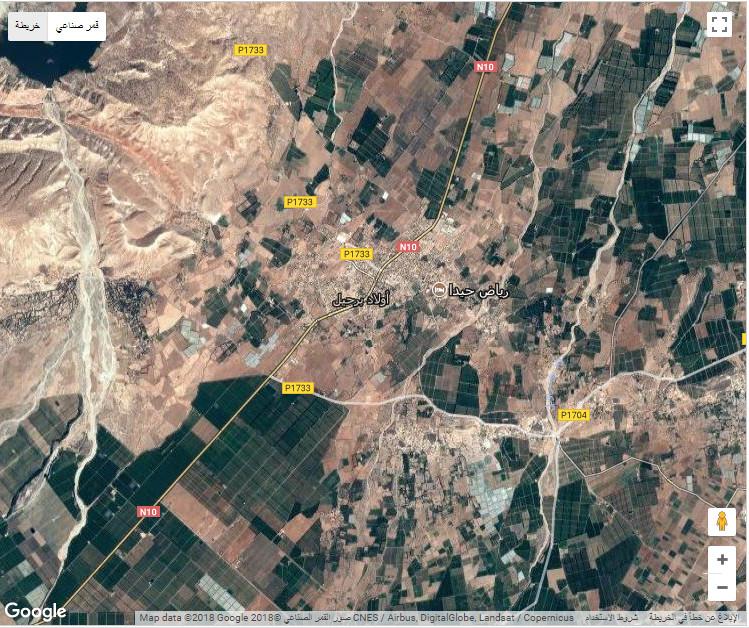 لمن يود التعرف على طريق الجرابيع، أولاد برحيل، المغرب خريطة