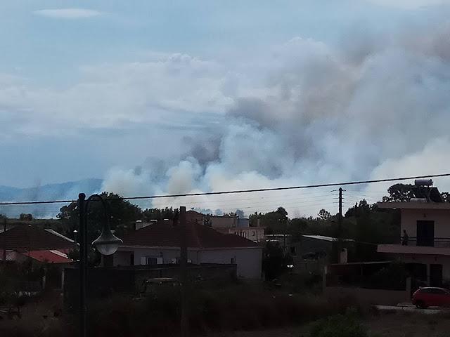 Πρέβεζα: Οχτώ οχήματα της Πυροσβεστικής, 16 άνδρες και αεροπλάνα, στις μάχες, με τη φωτιά, στη Σαμψούντα!