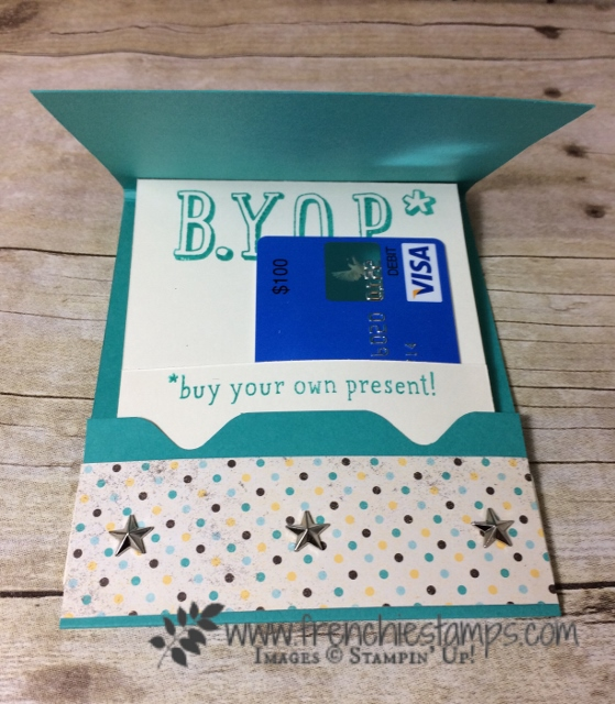 Gift Card Holder envelop punch Board, Stampin'Up!