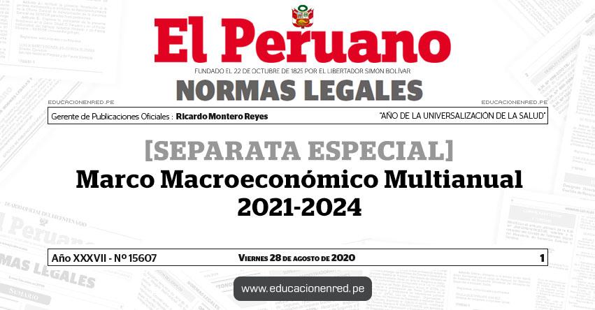 Marco Macroeconómico Multianual 2021-2024 [SEPARATA ESPECIAL]