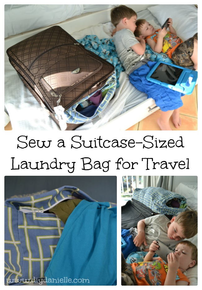 How to sew a custom laundry bag to fit your suitcase.