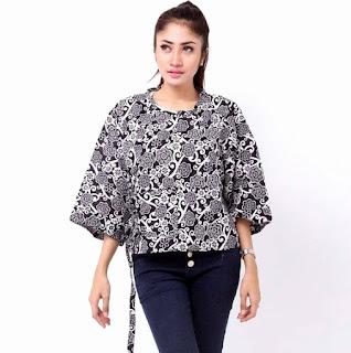 Baju Batik Kerja Wanita Berjilbab