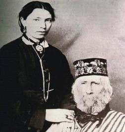 Garibaldi with his third wife, Francesca