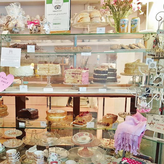 Cakestand & Crumb Tea Room cake cabinet