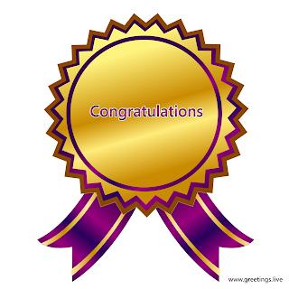good congratulations ribbon badge images.