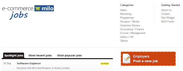 ecommerce.milo job board