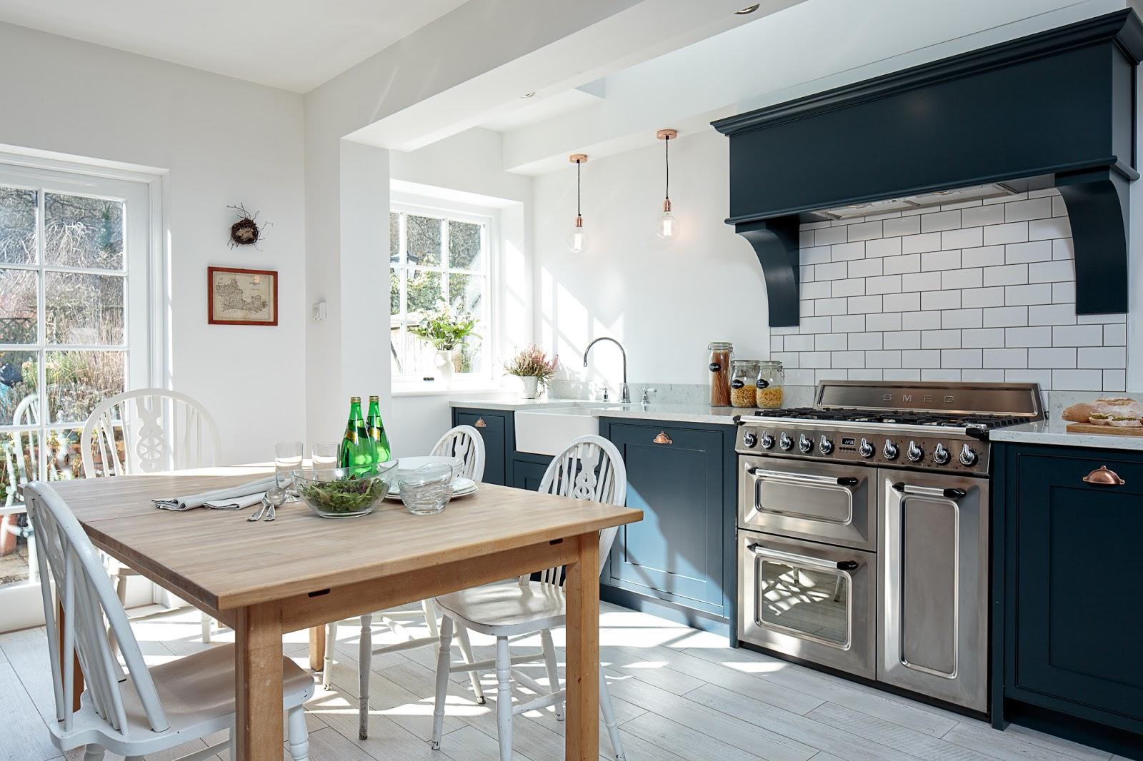 Maple & Gray: Blue Shaker Kitchen
