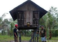 Jurung, lumbung padi, Dayak Jalai