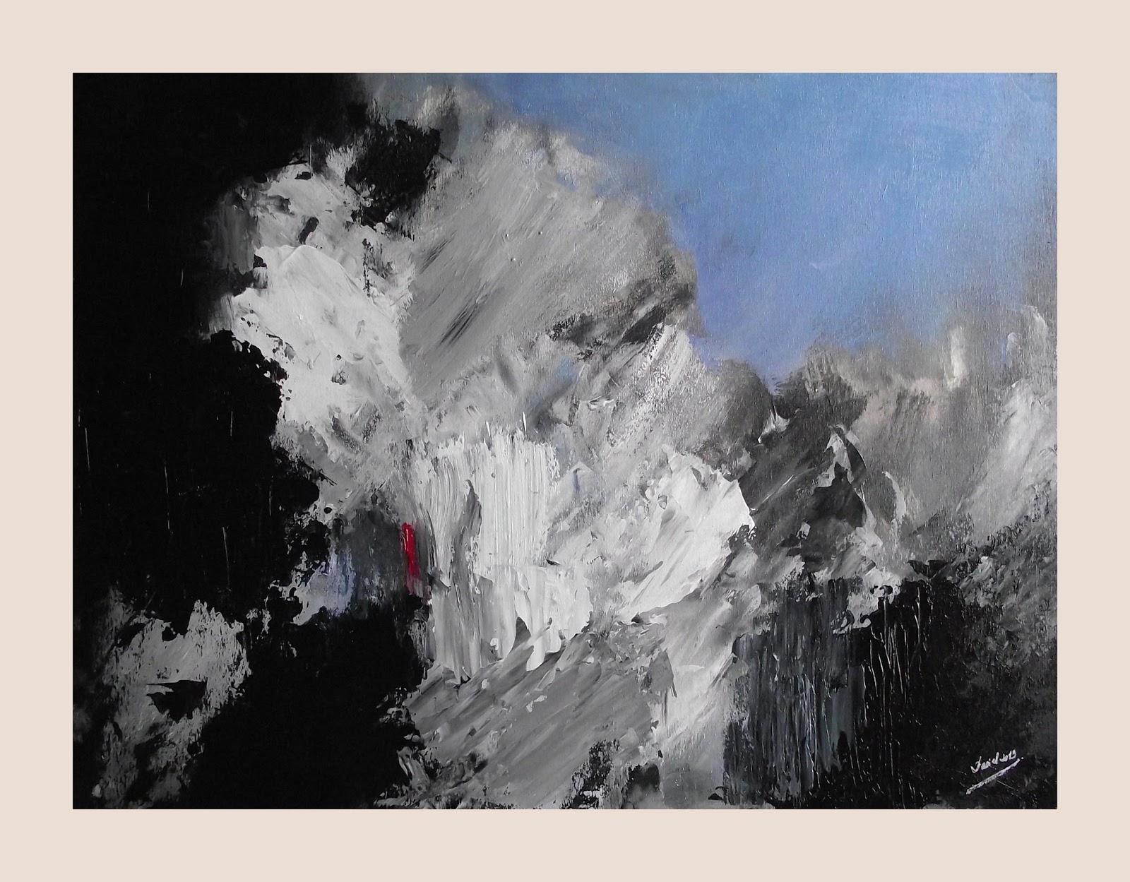 MIS CUADROS (Pintura Abstracta): ABSTRACCIÓN B/N