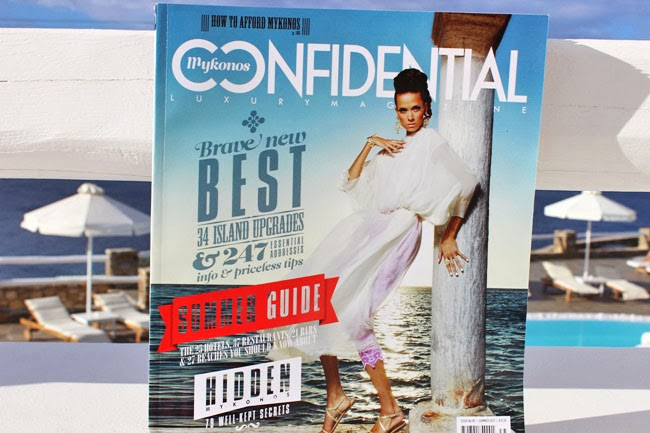 Mykonos confidential magazine