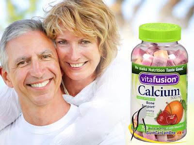 Kẹo Dẻo Bổ Sung Canxi Cho Người Lớn  Vitafusion Calcium 500 mg Gummy Vitamins For Adults 100 viên- BK05