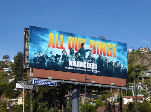 Walking Dead season 8 All Out Binge billboard