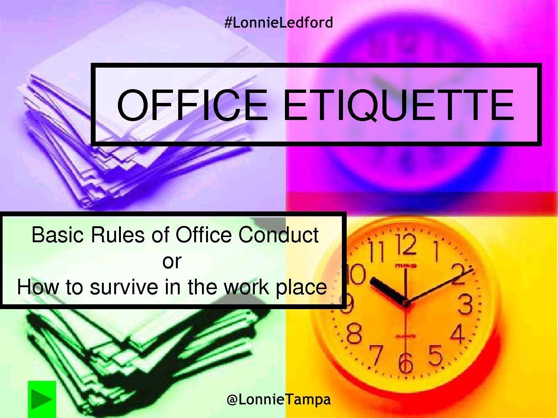 workplace etiquette lonnie ledford associates blog workplace etiquette
