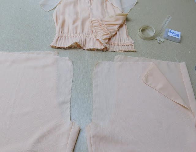 vestido con falda pantalón