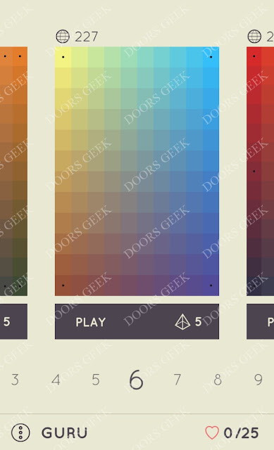 I Love Hue Guru Level 6 Solution, Cheats, Walkthrough