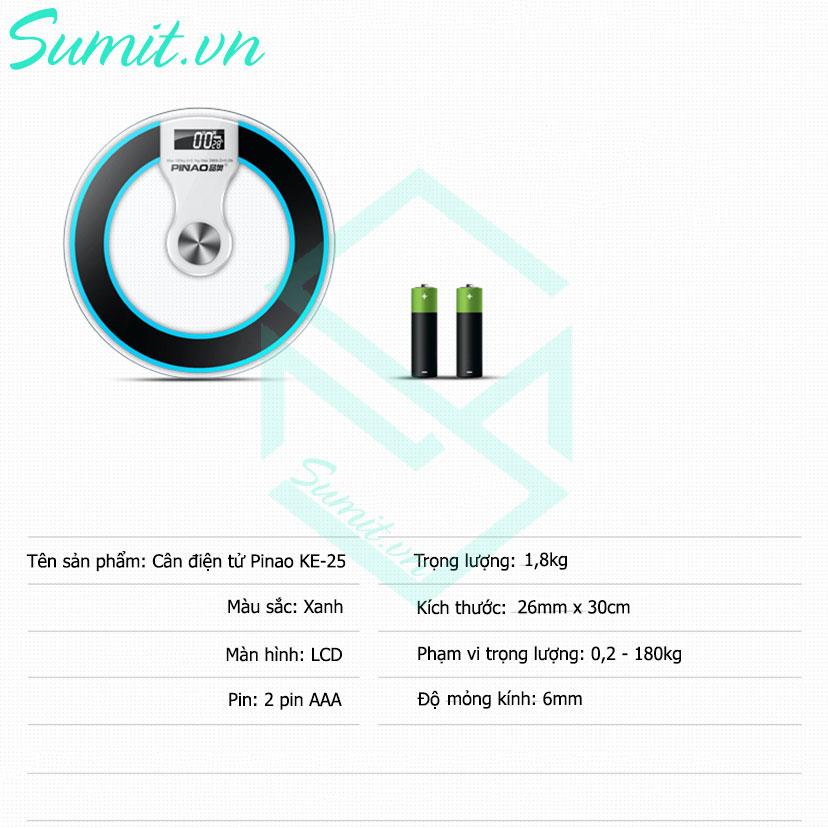 Cân điện tử sức khỏe Pinao PA-8258