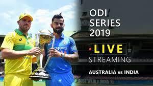 Live cricket score Ind vs Aus 1st ODI 2019