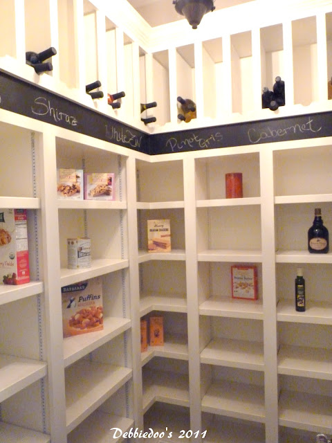 Walk in pantry with chalkboard idea