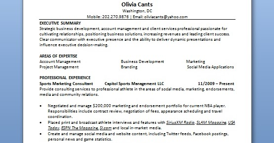Account Executive Resume Content In Word Format Free Download
