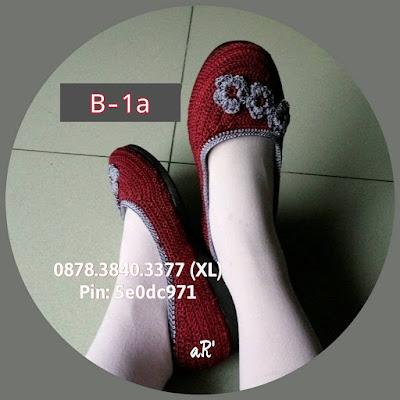 Sepatu Rajut Wanita Terbaru Model Bunga ~ 0878.3840.3377 (XL)
