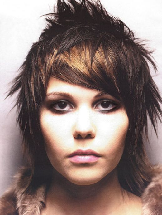 Windy Hairstyle Short Punk Rock Hairstyles For Girls