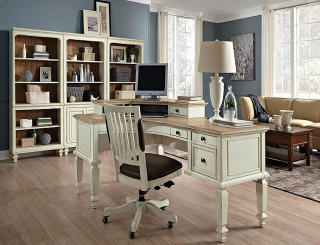 best rustic white office furniture sets design and decor ideas
