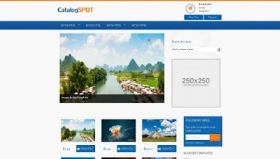 CatalogSpot - Online Store Responsive Blogger Template