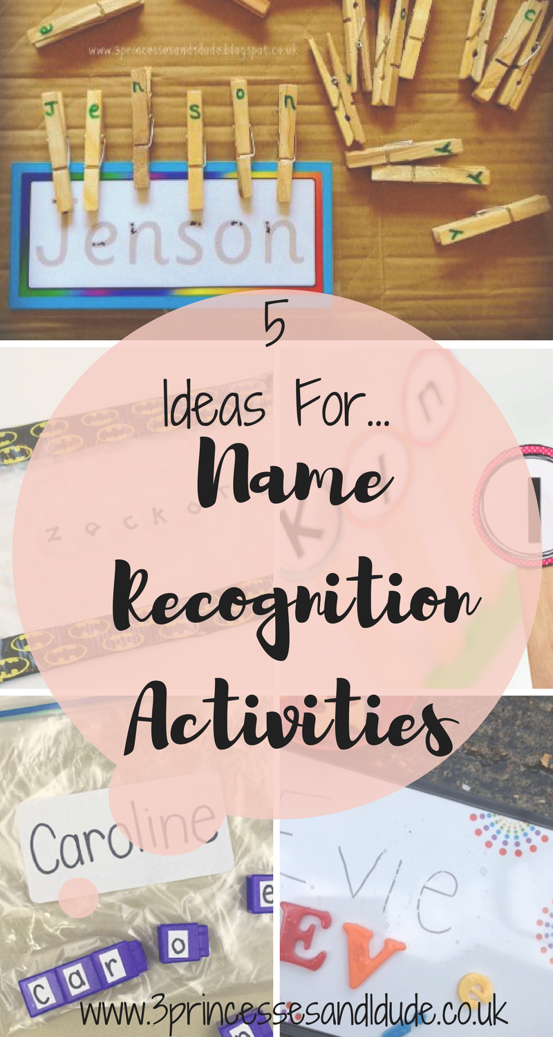 5 fun and easy activity ideas to help preschool children to recognise and spell their names